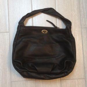 J. Crew black leather shoulder bag.